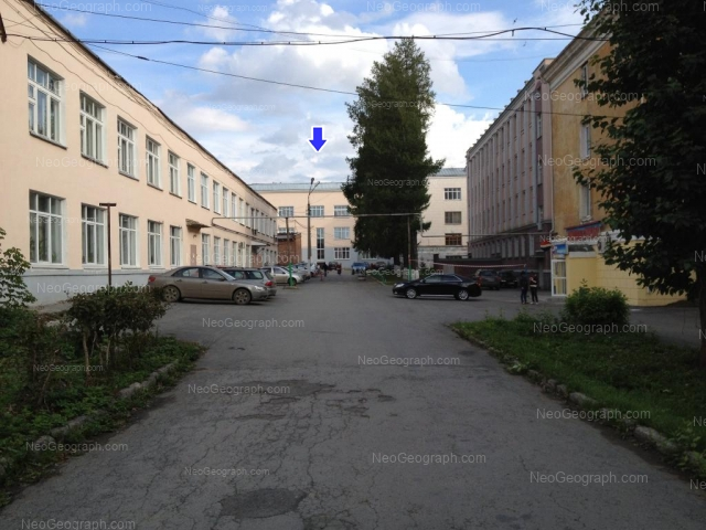 The campus of Ural State Forest Engineering University. Educational and laboratory buildings: 1, 3, 5