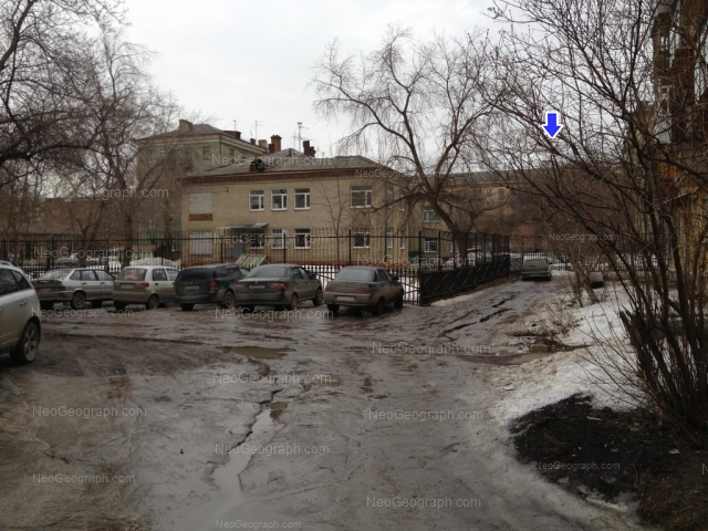 View to the building with address Babushkina Street, 24а, Yekaterinburg, municipal children\'s hospital 15, day hospital number 2