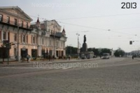 View to the Lenina Avenue and the 1905 Year Square in 2013. The photographer - V. V. Fomin