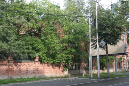 Photo of old buildings. The Zeleznov's House. The photo was taken in 2013. Yekaterinburg. Russia